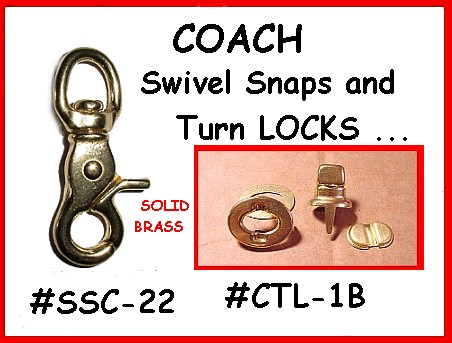Coach Swivel Snaps